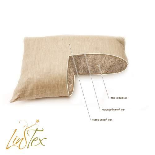 Подушки с льняной вставкой
