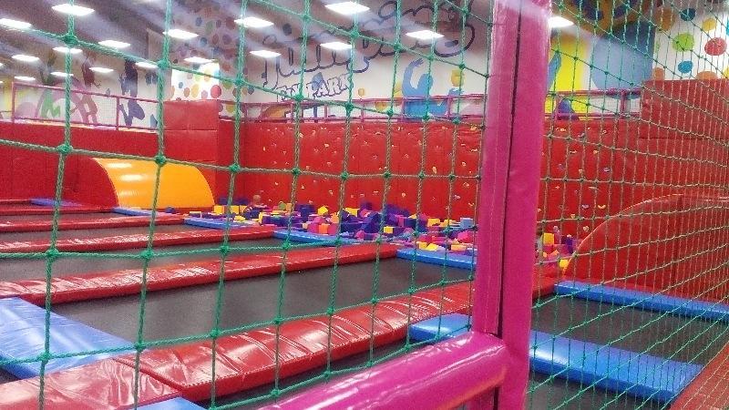 Сетка заградительная для детских игровых лабиринто